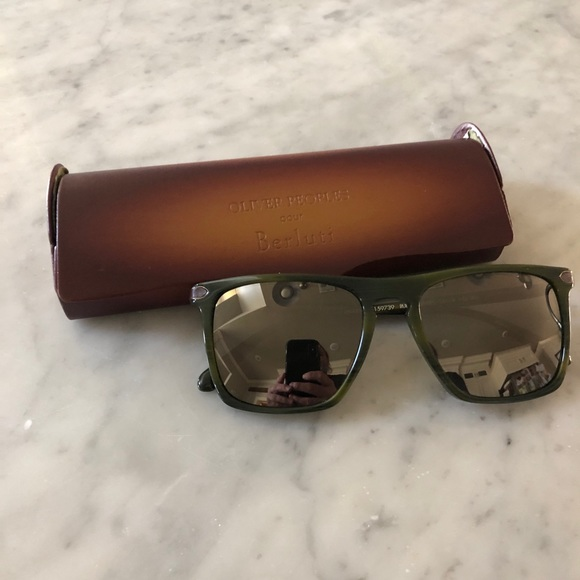 Oliver Peoples Berluti Sunglasses in Green